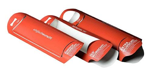 """""""WURST TO GO"""" - die multifunktionale, praktische sowie lebensmittelkonforme Kartonverpackung"""