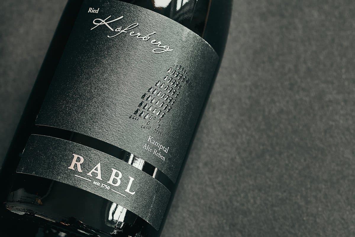 Rabl Käferberg - Etikett von Druckerei Bösmüller